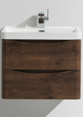 Related Bali Chestnut 600mm Wall Mounted Vanity Unit With Basin