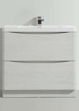 Related Bali White Ash 900mm Free Standing Vanity Unit With Basin