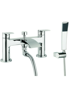 Related Adora Flow Dual Lever Deck Mounted Bath Shower Mixer Tap With Kit
