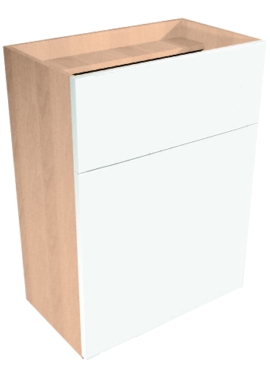 Related Noble Fitted 500 x 200mm Full Height Reduced Depth Back To Wall WC Unit