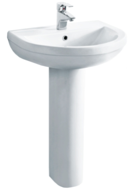 Related Ivo 555mm D Shaped Basin And Full Pedestal