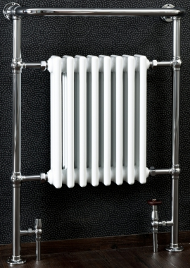 Related Cassellie White And Chrome Traditional Radiator 673 x 965mm