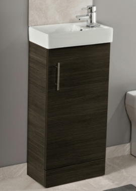 Related Cassellie Black Ash 400mm Cube Unit With Basin