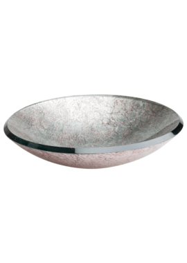 Related Dune Lavabo Redondo 460mm Countertop Basin Silver And Copper - 185419
