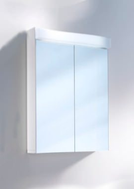 Related Schneider Lowline 2 Door Mirror Cabinet With LED 600mm