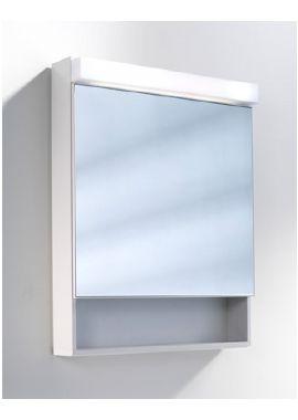 Related Schneider Lowline 600mm 1 Door Mirror Cabinet With LED Light And Shelf