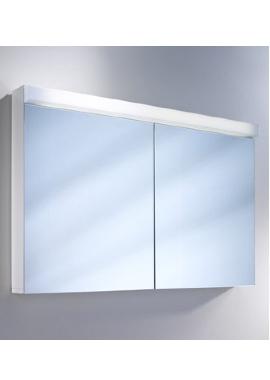Related Schneider Lowline 2 Door Mirror Cabinet 900mm  With Flourescent Lighting