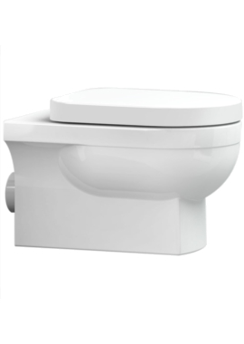 Related Utopia Quantum Square Wall Hung WC Pan With Soft close Seat 560mm