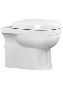 Related Utopia Quantum Round Back-To-Wall Pan With Soft Close Seat 550mm