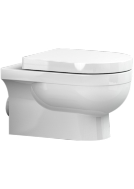 Related Utopia Quantum Round Wall Hung WC Pan With Soft Close Seat 560mm