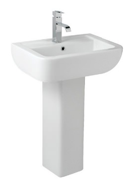 Related Kartell Options 600 550mm 1 Tap Hole And Full Pedestal