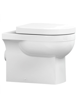 Related Utopia Quantum Square Back-To-Wall Pan With Soft Close Seat 550mm