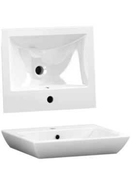 Related Utopia Quantum Square Elegant Deck Mounted Basin 500 x 420mm