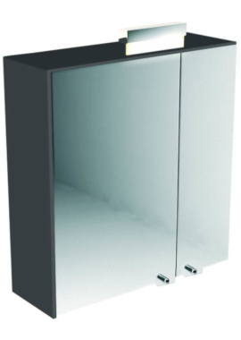 Related Utopia 600mm Mirror Cabinet With Overhead Chrome Light