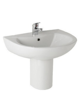 Related Kartell G4K 545mm 2 Tap Hole Basin And Semi Pedestal