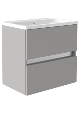 Related Utopia Qube 500mm Wall Hung Double Drawer Reduced Unit With Ceramic Basin