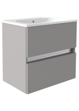 Related Utopia Qube 800mm Wall Hung 2 Drawer Unit With Mineralcast Basin
