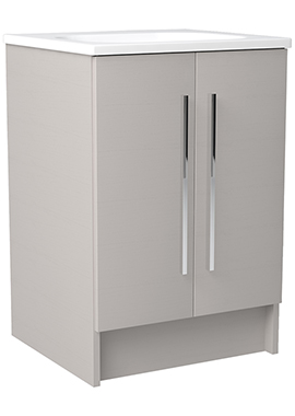 Related Noble Modular Cashmere 500mm Freestanding Double Door Unit With Basin