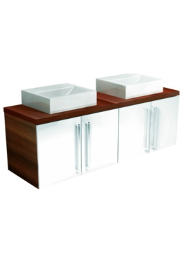 Related Utopia You Modular Twin Double Door Unit With 2 Square Ceramic Basin