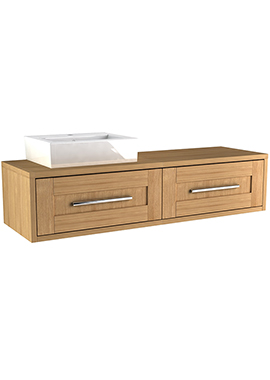 Related Timber Modular 1600mm Wall Hung Two Drawer Unit With Ceramic Basin
