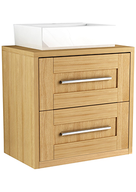 Related Timber Modular 800mm Wall Hung Double Drawer Unit With Ceramic Basin