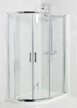 Related Kartell Koncept 900 x 760mm Offset Quadrant Shower Enclosure