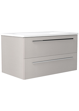 Related Noble Modular Cashmere 600mm Wall Hung Double Drawer Unit With Basin