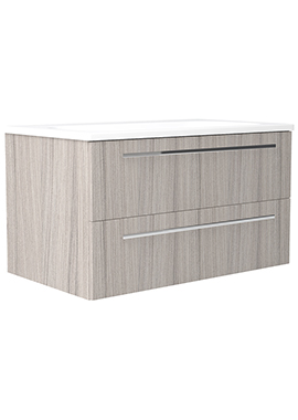 Related Noble Modular Drift 500mm Wall Hung Double Drawer Unit With Basin