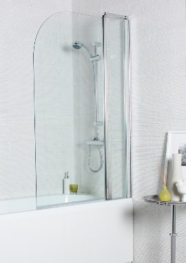 Related Kartell Koncept 1000 x 1400mm Straight Bath Screen With Extension Panel