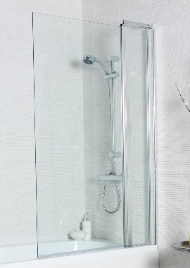 Related Kartell Koncept 920x1400mm Square Edge Bath Screen With Extension Panel