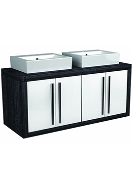 Related I-Line Modular 1700mm Twin Double Door Unit With 2 Ceramic Basin