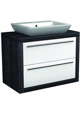 Related I-Line Modular 900mm Double Drawer Unit With Elegant Ceramic Basin