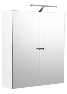 Related Noble Modular White Gloss Double Door Mirror Cabinet 500 x 660mm