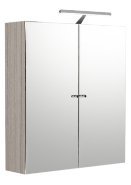 Related Noble Modular Drift Double Door Mirror Cabinet 800 x 660mm