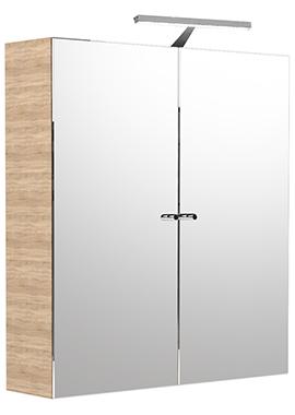 Related Noble Modular Natural Oak Double Door Mirror Cabinet 500 x 660mm