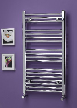Related Kartell K Rail Premium 25mm Straight Towel Rail 600 x 750mm White