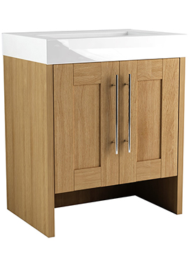 Related Timber Modular 600 Freestanding 2 Door Unit With Mineralcast Basin