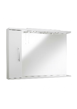 Related Kartell Impakt 750mm Mirror With Side Cabinet And Light