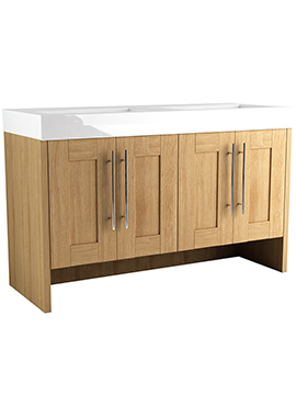 Related Timber Modular 1200 Freestanding 4 Door Unit With Mineralcast Basin