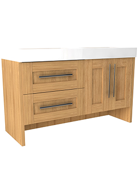 Related Timber Modular 1200 Floor 2 Drawer And Door Unit With Mineralcast Basin