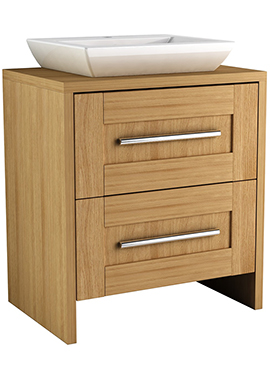 Related Timber Modular 600 Freestanding 2 Drawer Unit With Elegant Ceramic Basin