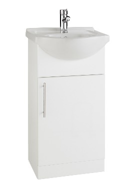 Related Kartell Impakt 450mm White Cabinet With Basin