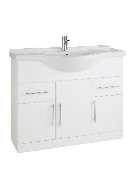Related Kartell Impakt 1200mm White Cabinet With Basin