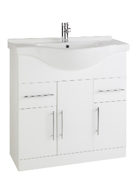 Related Kartell Impakt 850mm White Cabinet With Basin