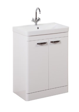 Related Kartell Options 500mm White Floor Standing 2 Door Unit And Basin