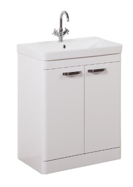 Related Kartell Options 600mm White Floor Standing 2 Door Unit And Basin