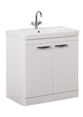 Related Kartell Options 800mm White Floor Standing 2 Door Unit And Basin
