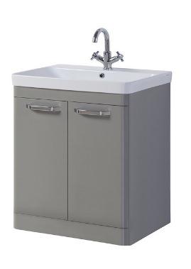Related Kartell Options 800mm Basalt Grey Floor Standing 2 Door Unit And Basin