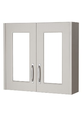Related Kartell Astley 800mm Double Door Stone Grey Mirror Cabinet