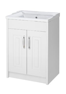 Related Kartell Astley 600mm White Ash Floor Standing 2 Door Unit And Basin